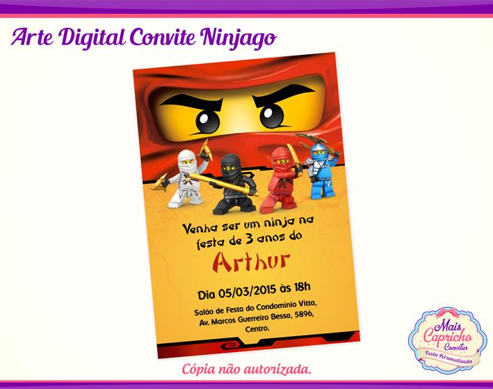 Convite Digital Ninjago No Elo7 Mais Capricho Convites 82c600