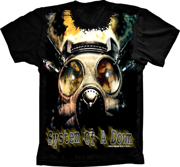 0b71343d9b634 Camiseta System Of a Down no Elo7