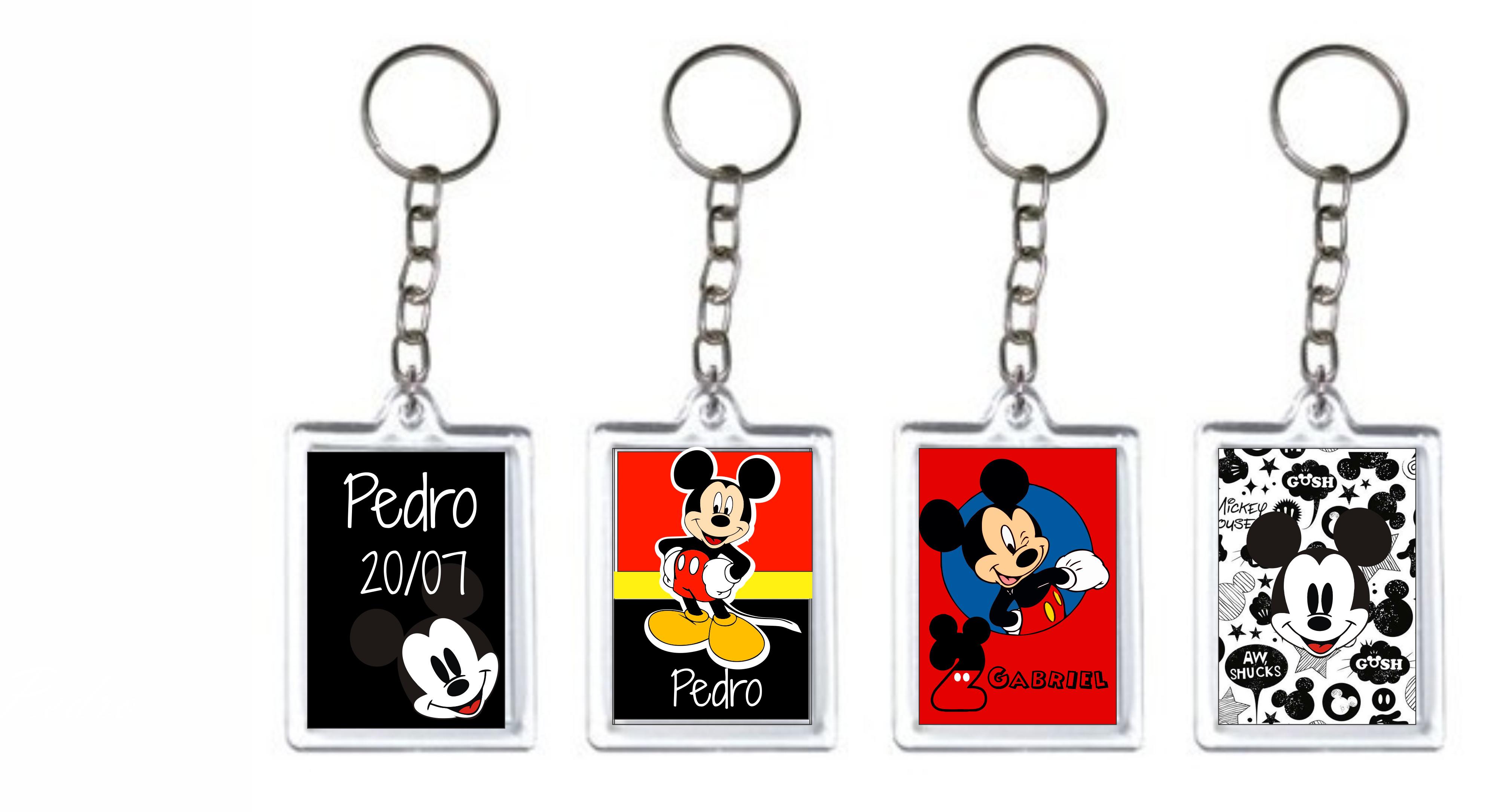 chaveiro acrilico Mickey 3x4 no Elo7   Milena Reni Fernandes (82EE29) 051ac94fb6