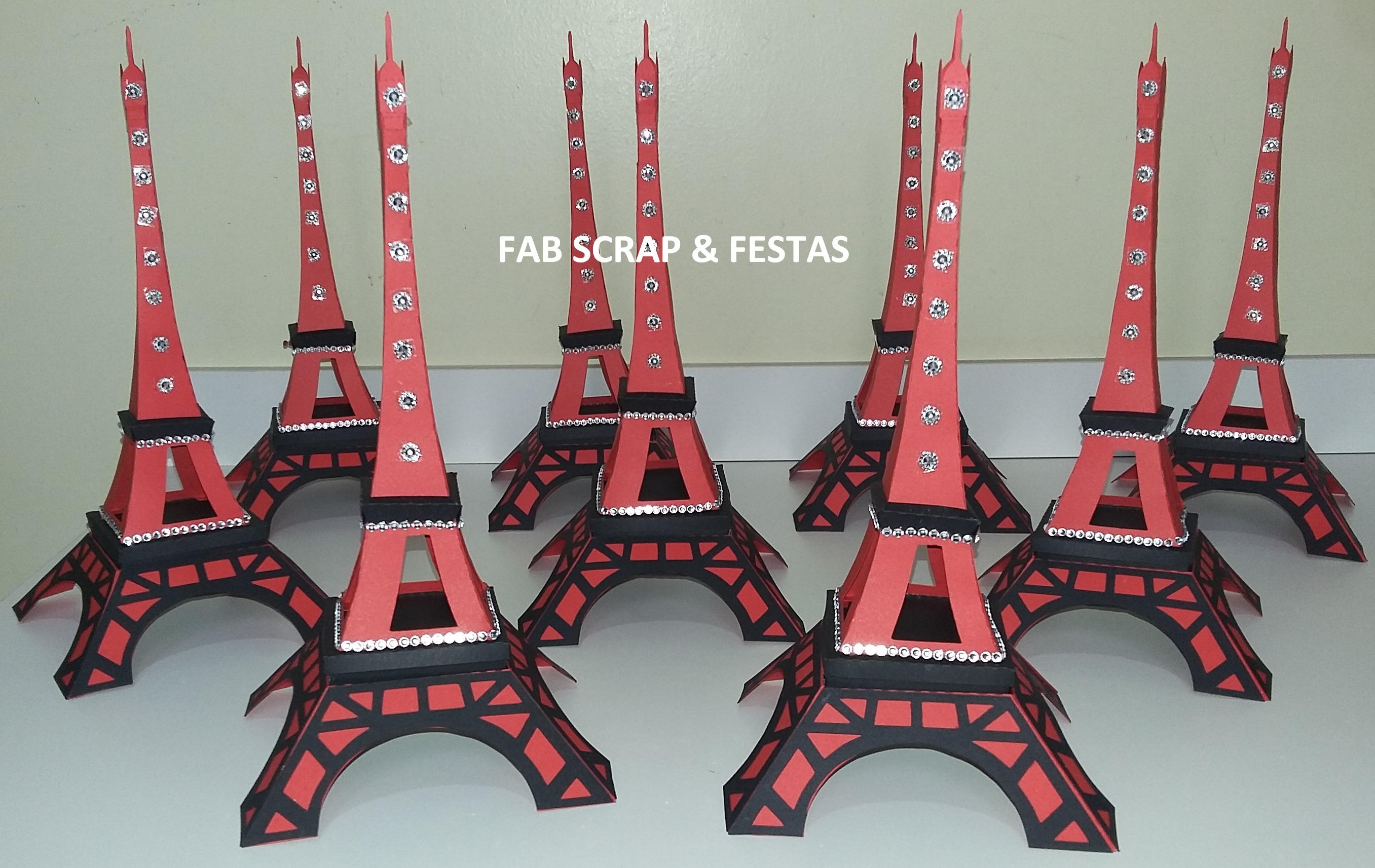 Torre Eiffel Scrap 3d Grande 29cm No Elo7 Fab Scrap Festas