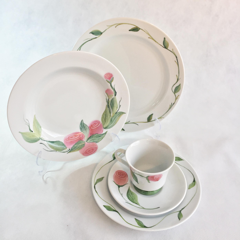 Aparelho Chá E Jantar Porcelana 16 Peças No Elo7 Cléoborges 8343fc