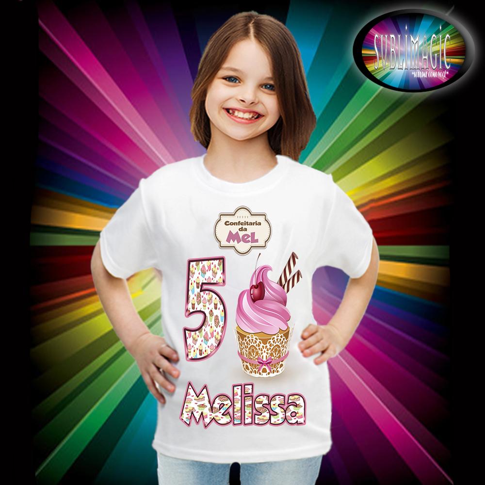 130da0327 Camiseta Cupcake no Elo7   SUBLIMAGIC (8358F0)