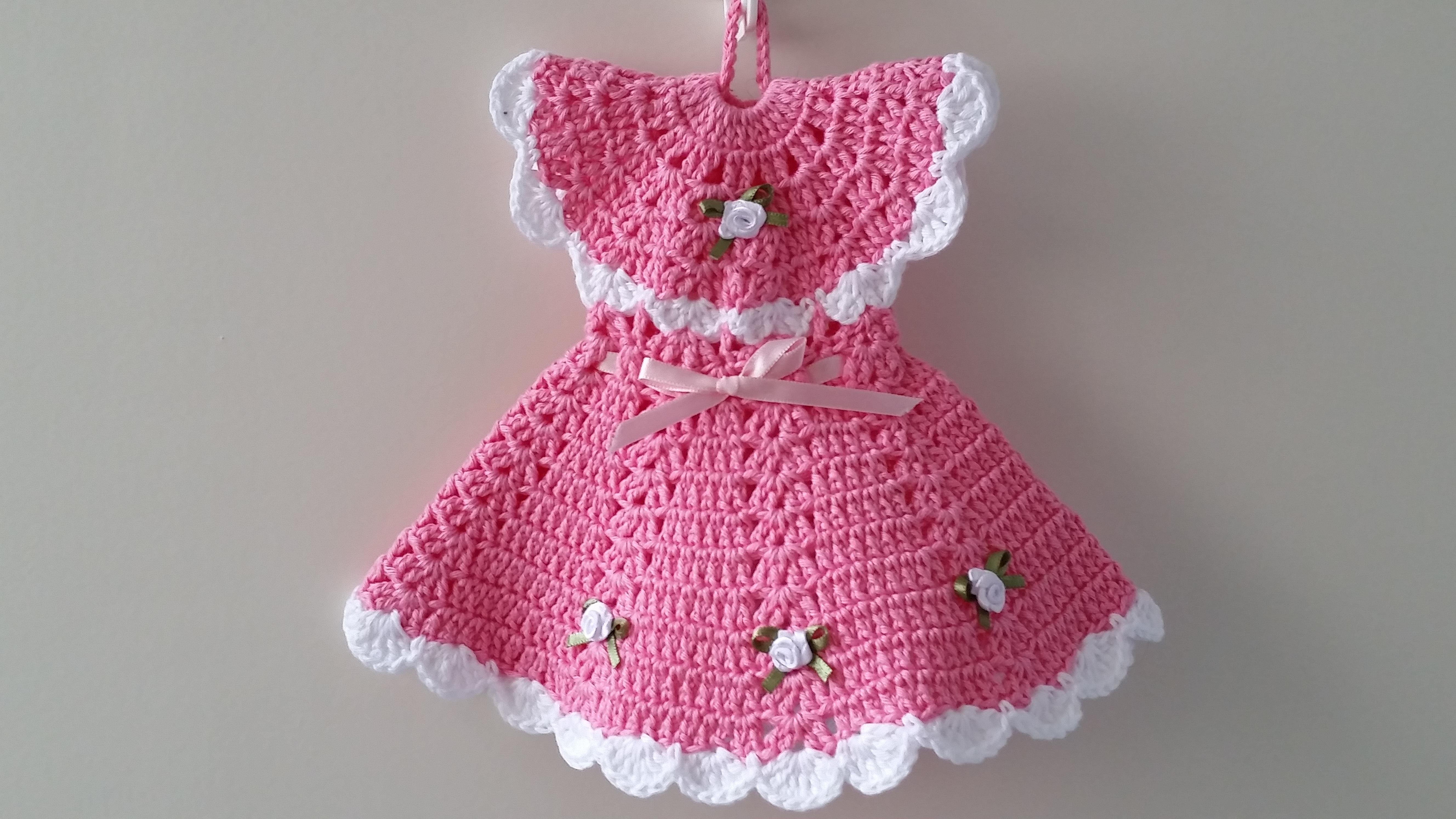 2355f3c9b Pegador de Panelas Vestido Rosália no Elo7 | Mari Crochê feito com carinho!  (83819D)