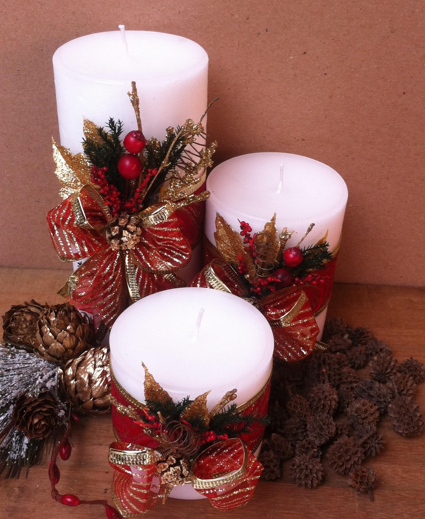 velas decoradas para natal dimetro 7cm essencialart elo7 - Velas Decoradas