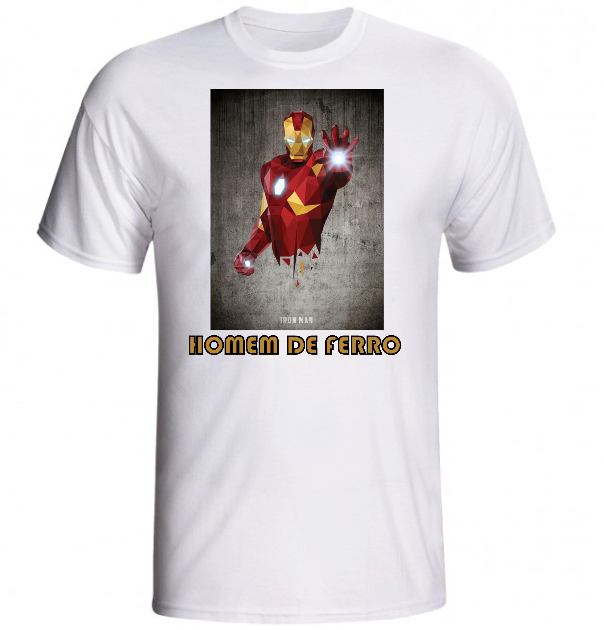 007849331 Camiseta Camisa Homem de Ferro para Meninos