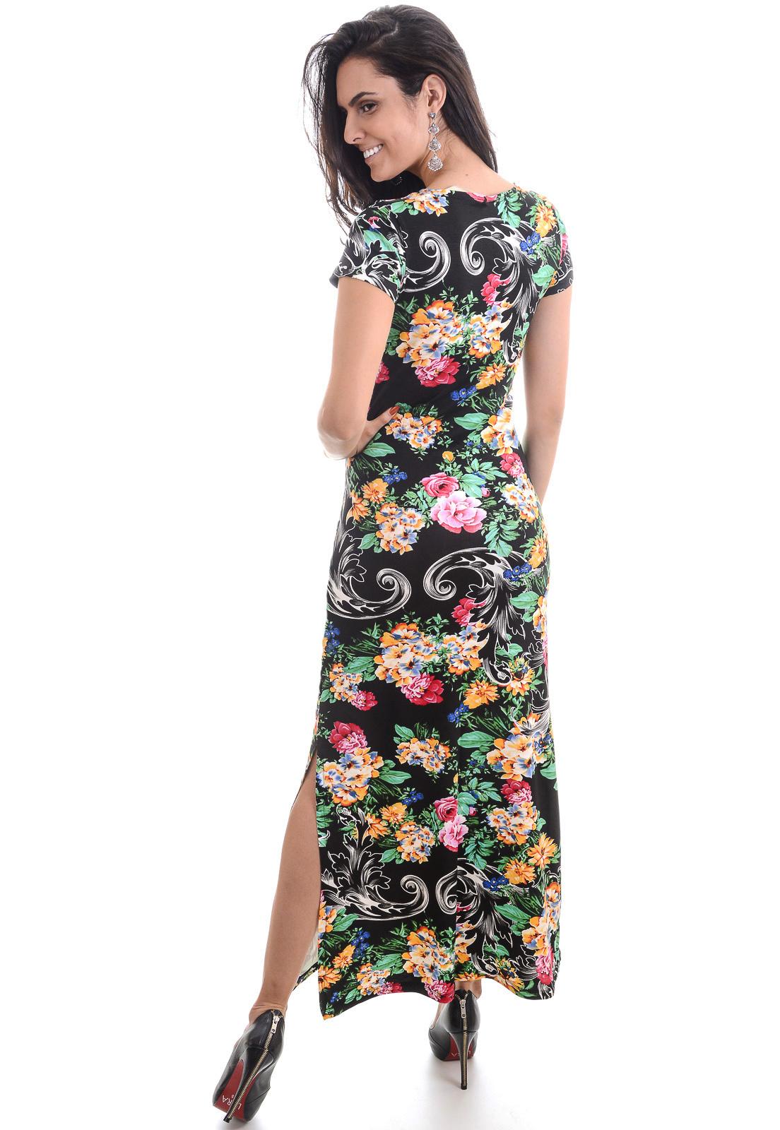 Vestidos longo florido