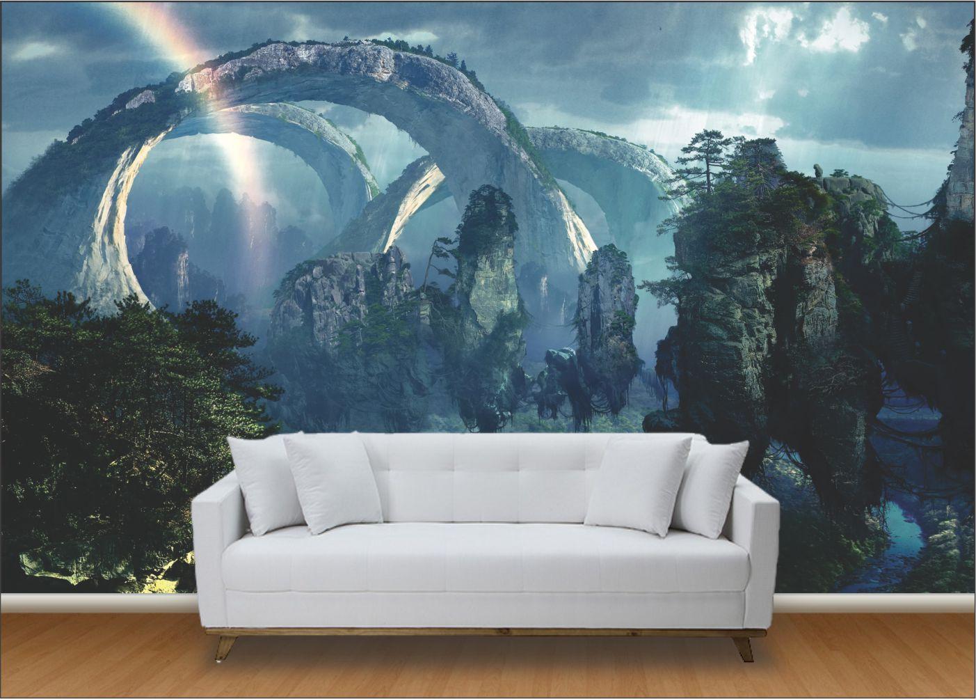 Papel De Parede 3d Surreal M 0009 No Elo7 Paredes Decoradas  -> Mural Parede Sala