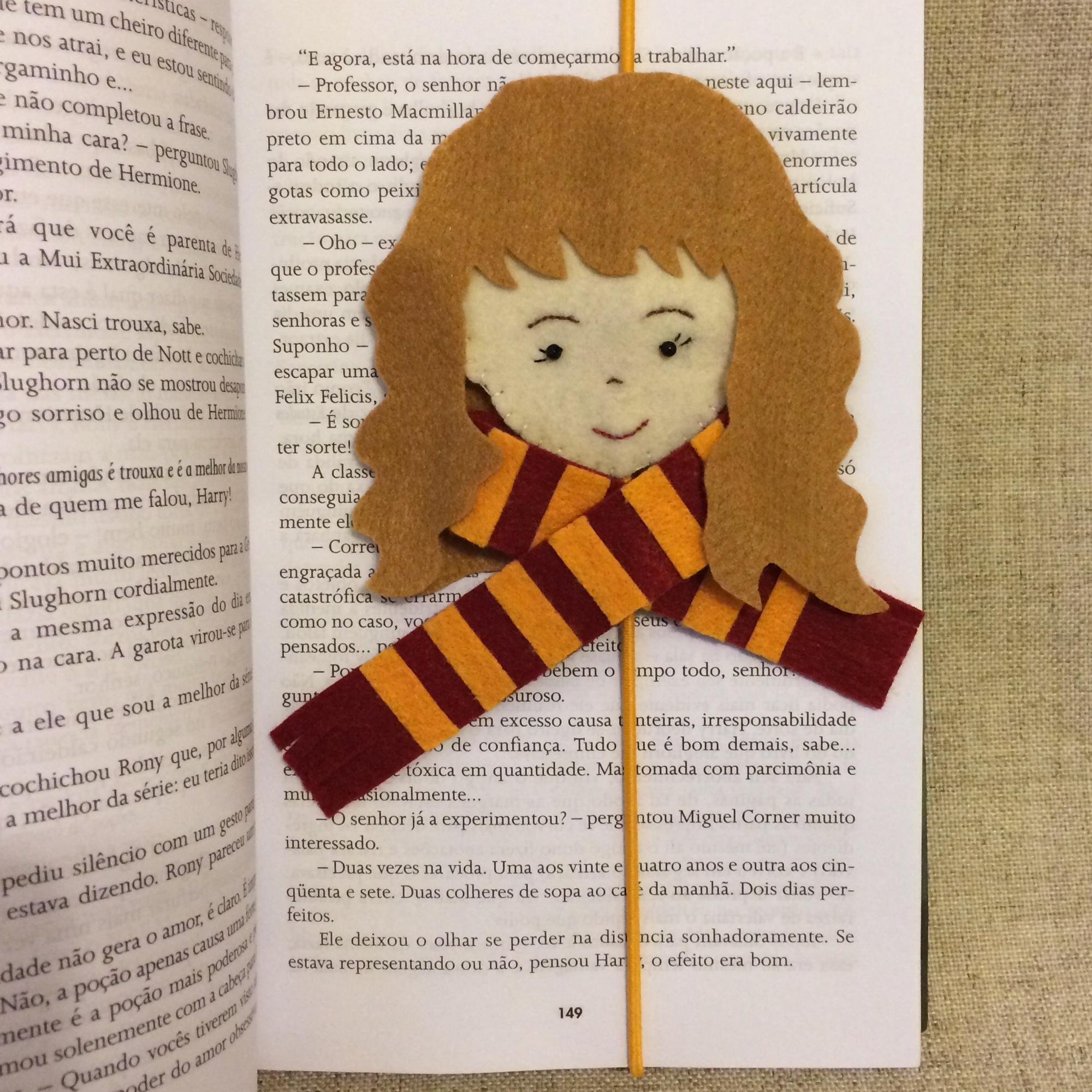 Hermione Harry Potter Marcador No Elo7 Atelie Priscilla Boffo