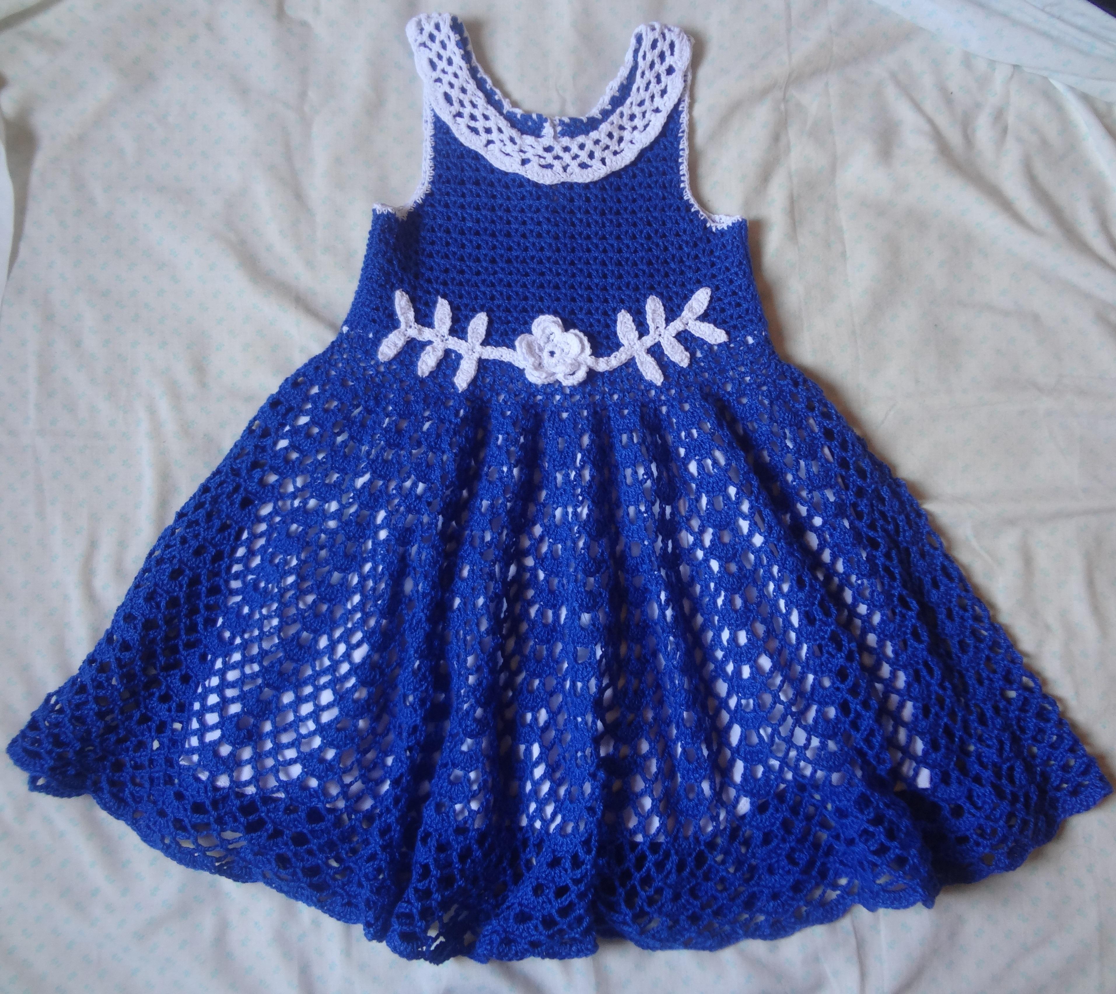 Preferência Vestido crochê infantil no Elo7 | Artess da Bia (83C53A) ZD01