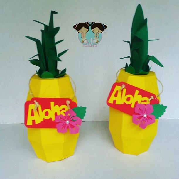 Caixa Abacaxi Festa Havaiana No Elo7 Arte E Recorte Papel