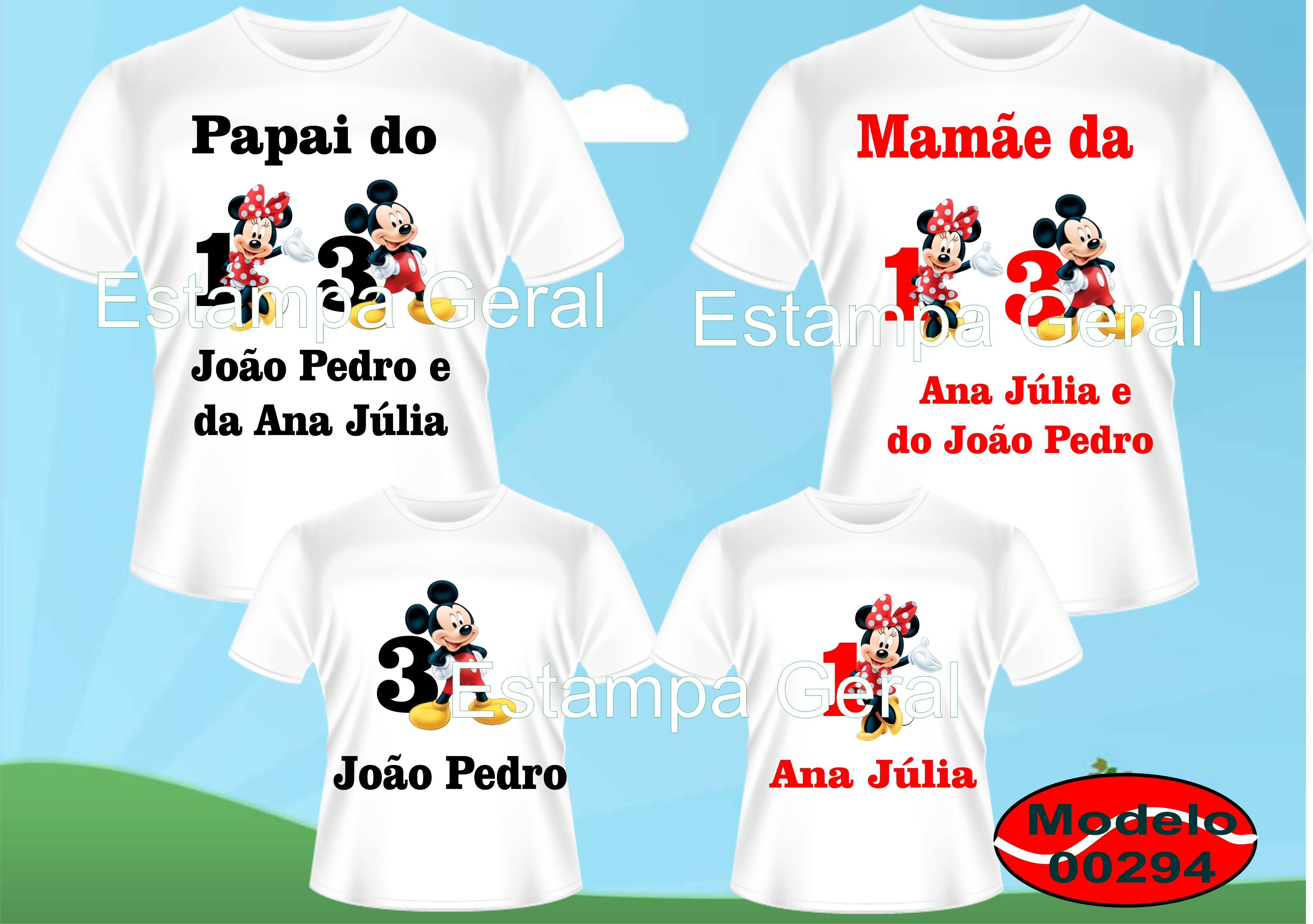 4e33709b0f971 Camiseta Aniversário Mickey