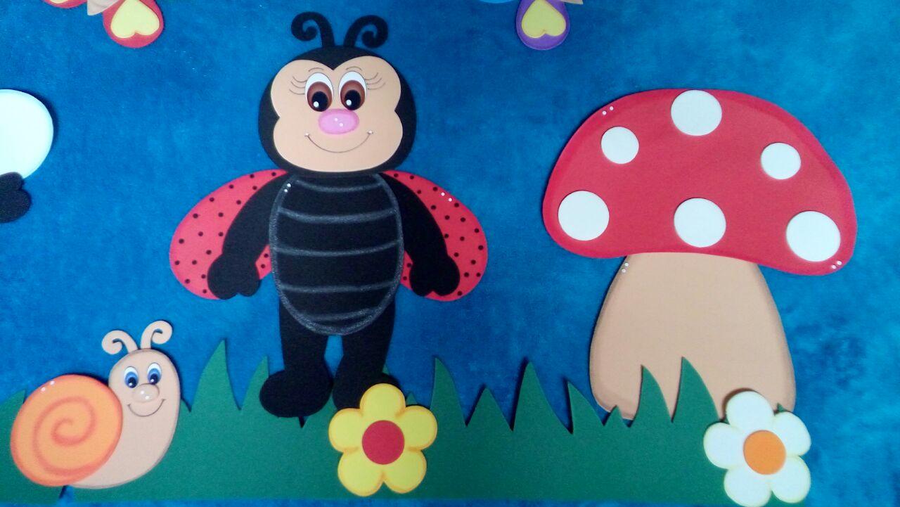 Mural escolar jardim evaleria artesanato em e v a elo7 for Aviso de ocasion mural