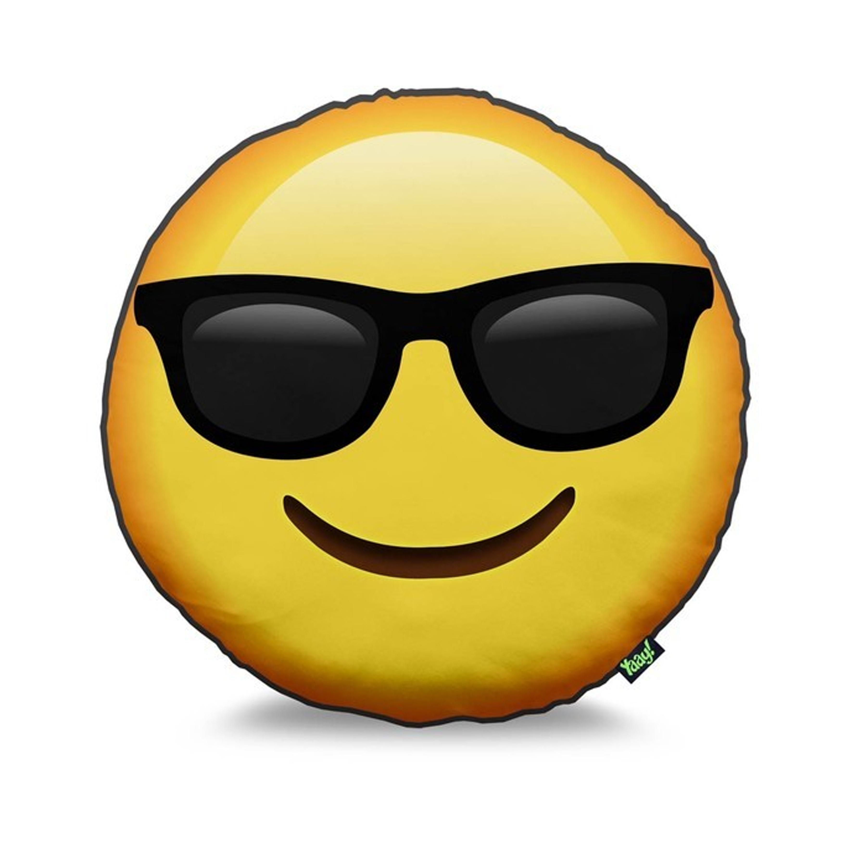 Almofadas Emoji Carinhas Oculos de Sol   Elo7 b0259e195f