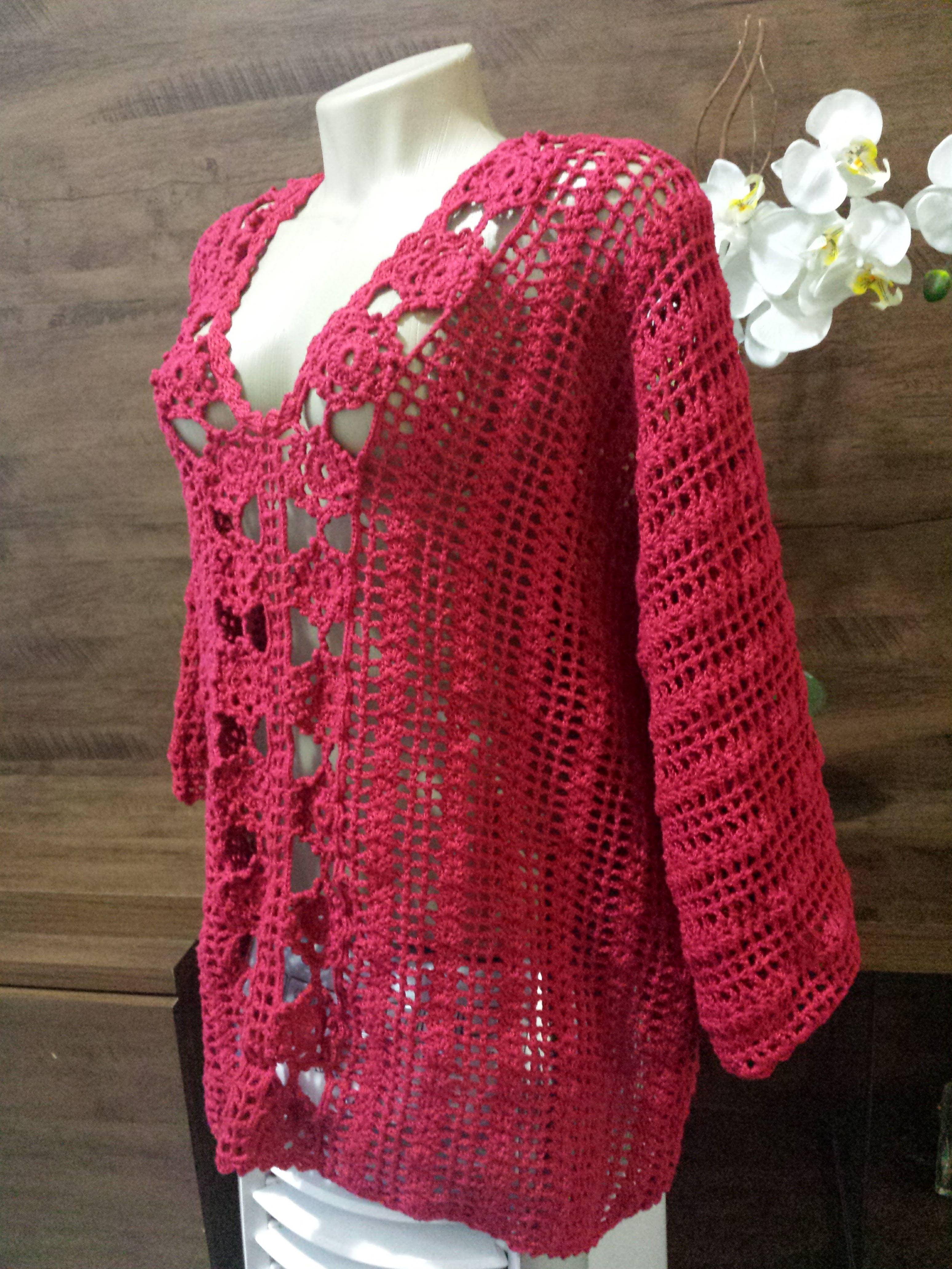 6533656582de76 BLUSA MANGA MORCEGO no Elo7 | Knit and Crochet by Sissy Monturil (848FE8)