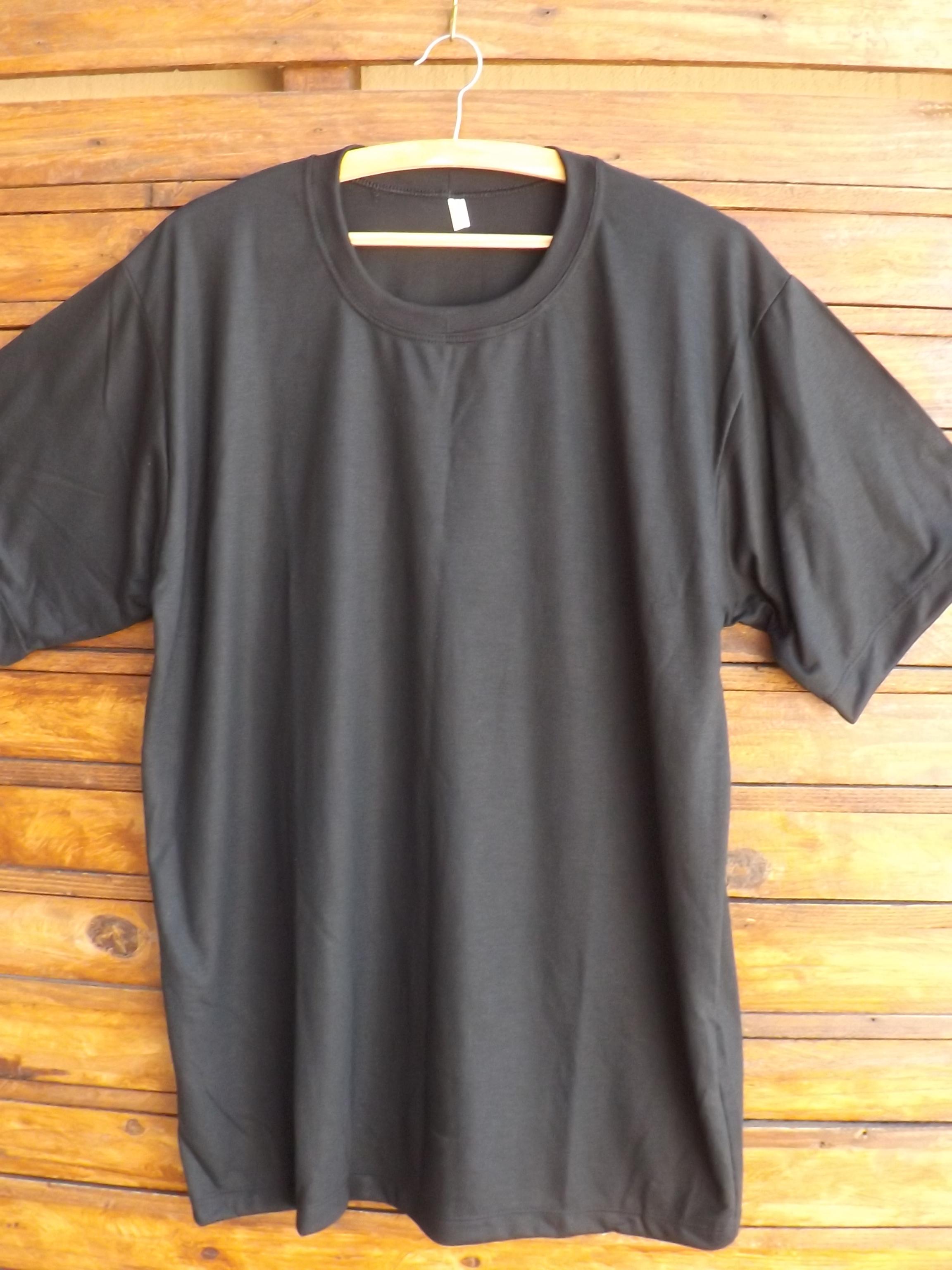 Camiseta Preta Lisa Algodao  2f745599243