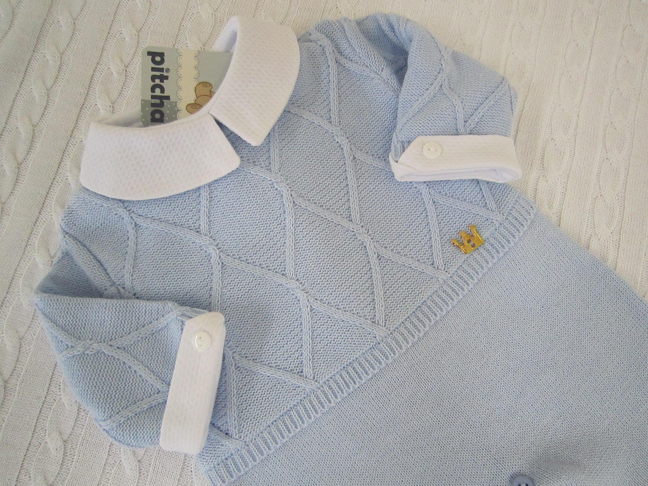 7b16bbfaaf Macacão Azul Bebê com Body  RN no Elo7