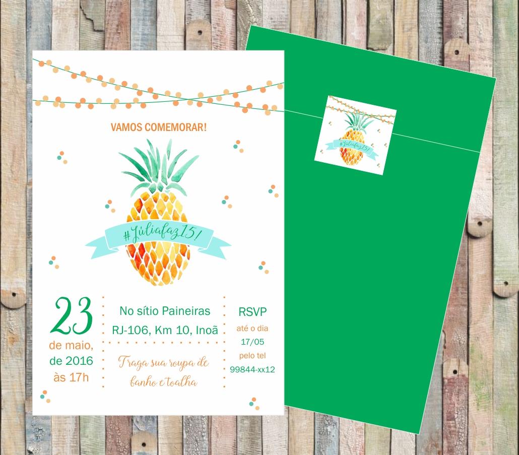 Convite Virtual Festa Tropical Elo7