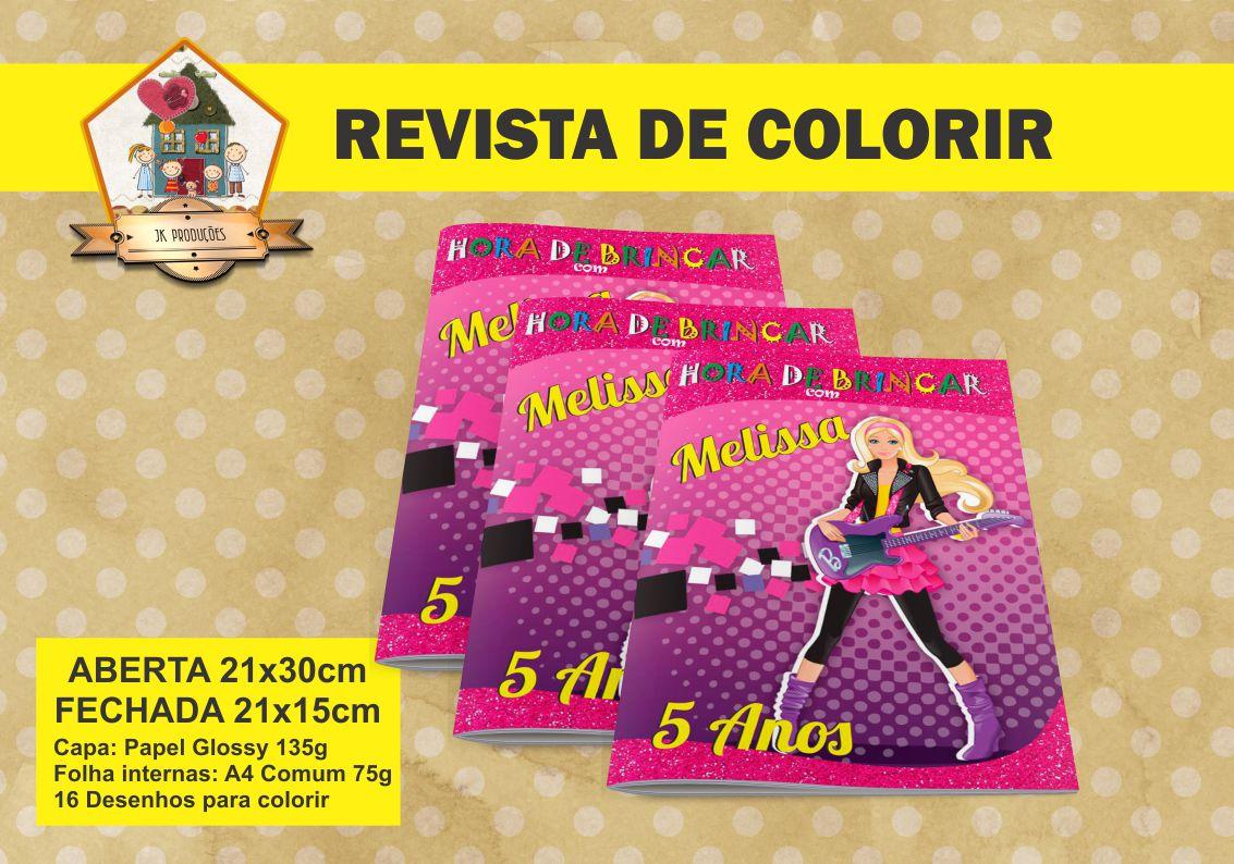 Revista Para Colorir Barbie Pop Star