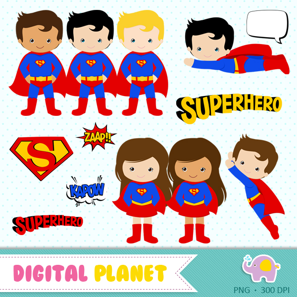Kit Digital Super Homem No Elo7 Digital Planet 751121