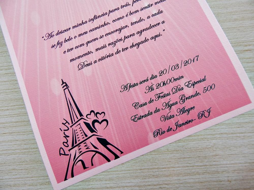 Convites 15 Anos Linda Paris No Elo7 Ferraz Convites 8504c3