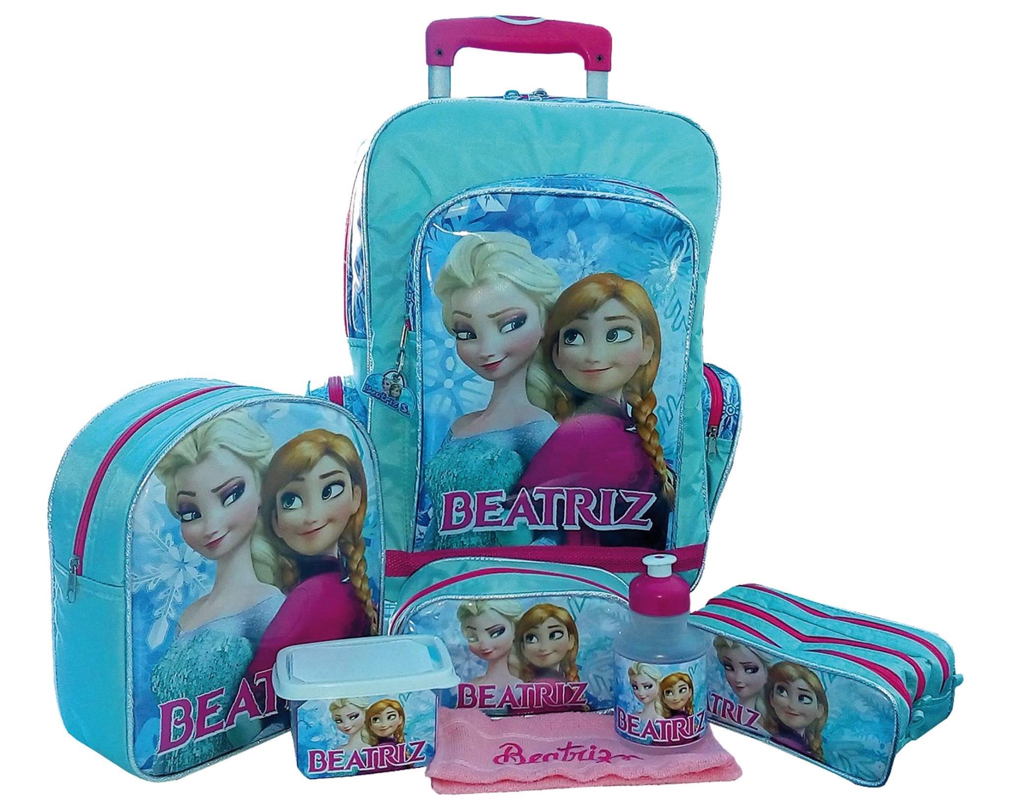 814063dfb Mochila Escolar Personalizada Frozen 05 pçs no Elo7 | Jujubalândia  Personalizados (85350C)