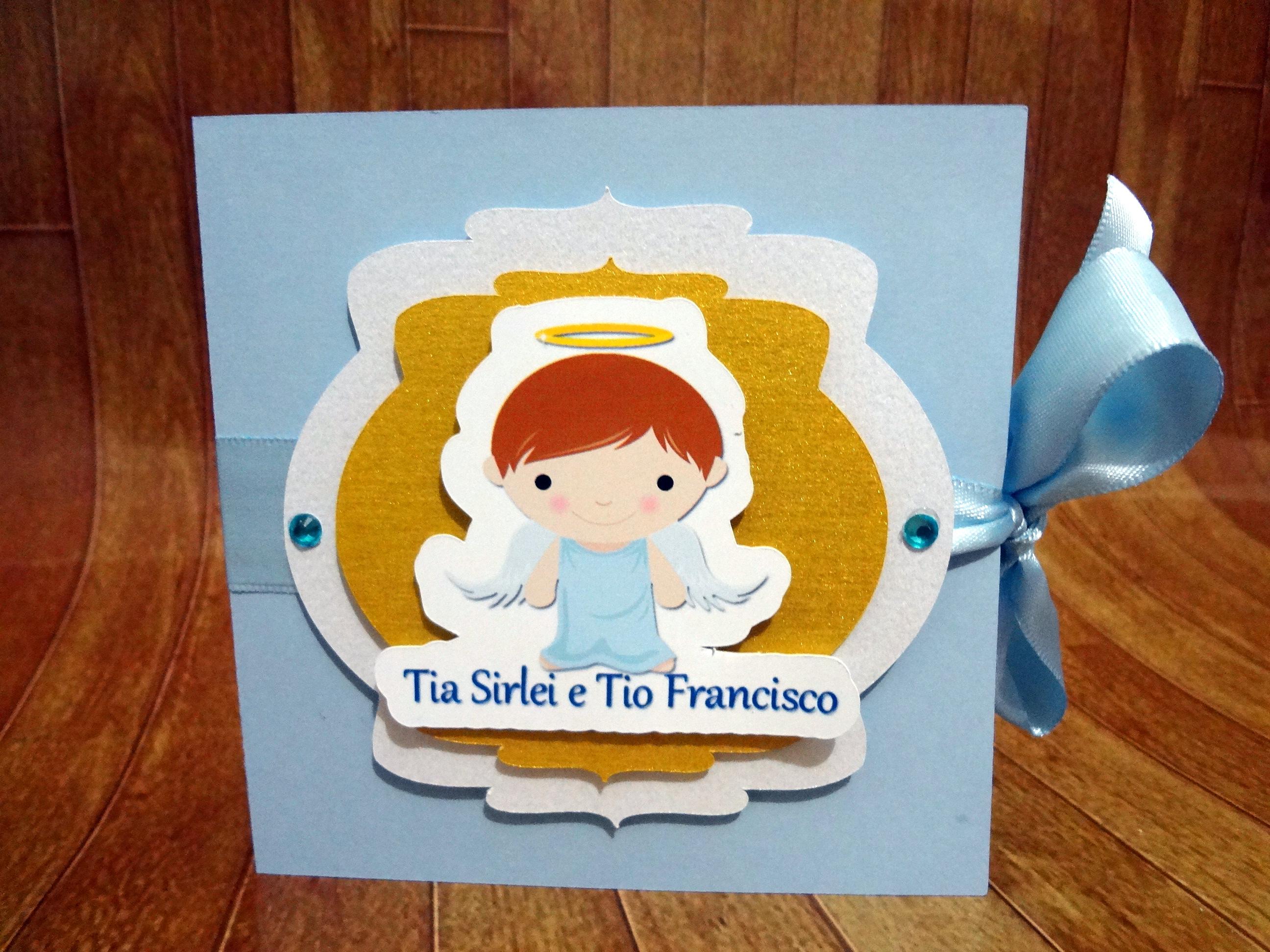Convite Padrinhos Batismo No Elo7 Ateliê Das Lembrancinhas 846587
