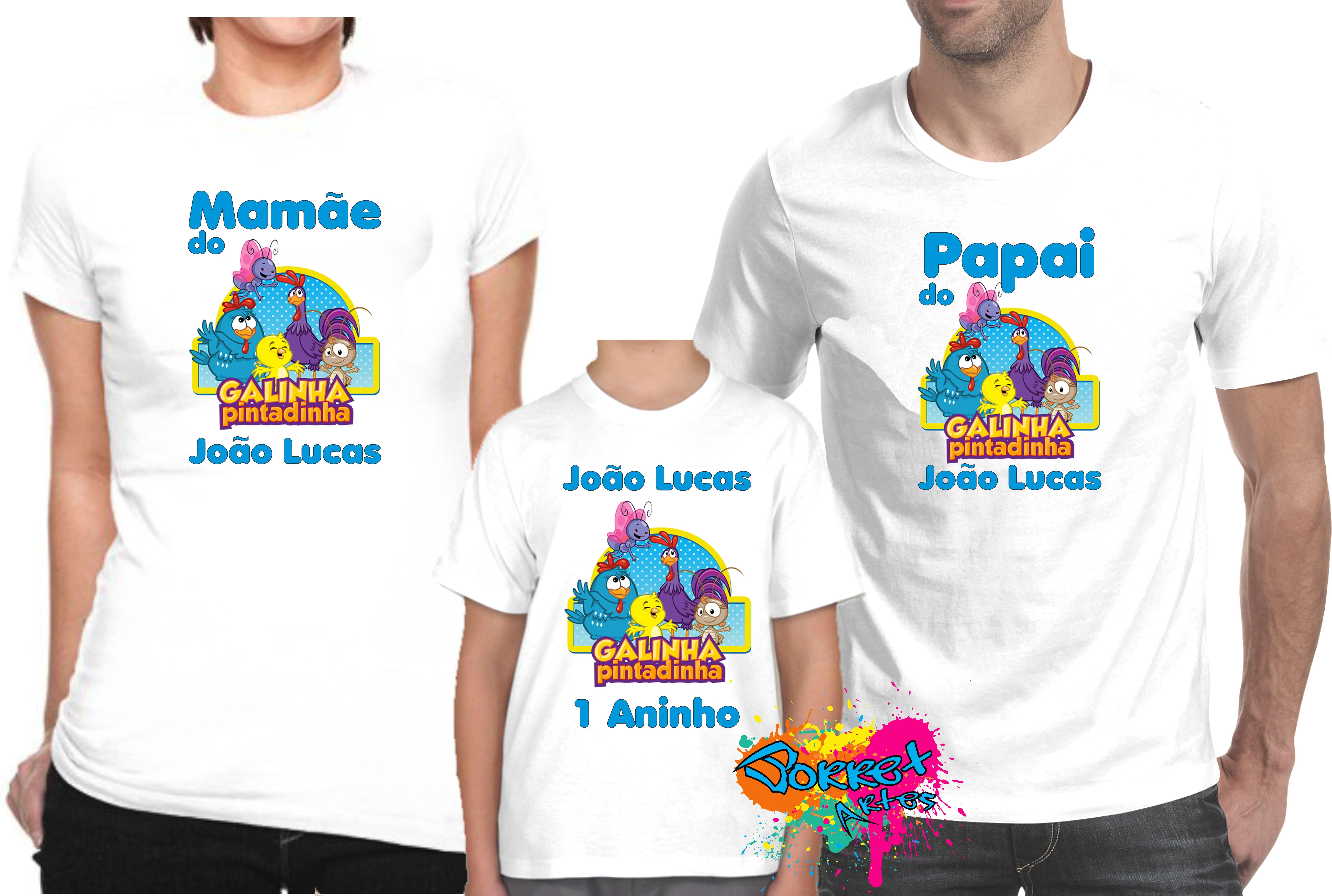 707ca13adb Camisa Festa Galinha Pintadinha 3 Pçs no Elo7