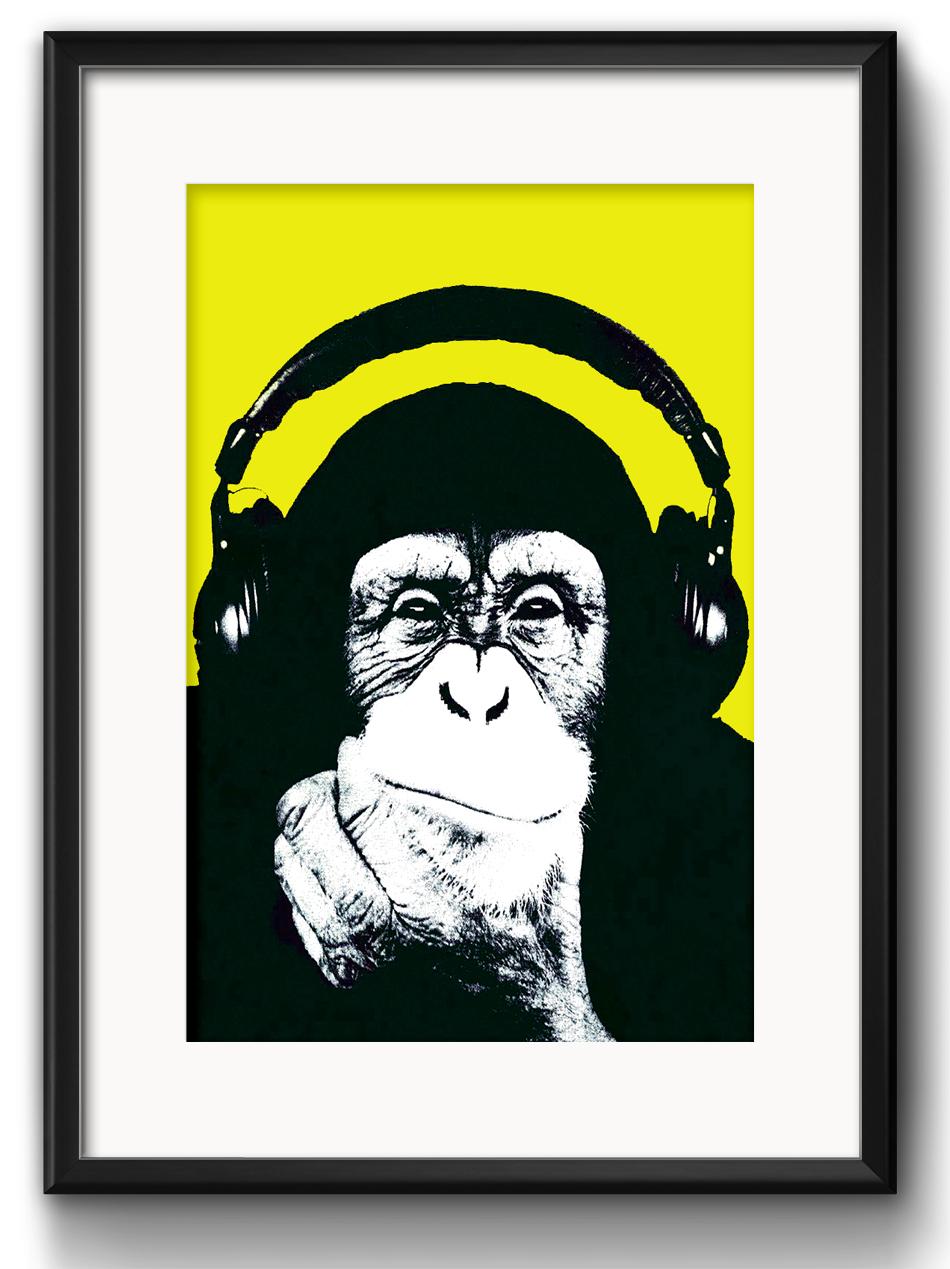 4fc6c7e159 Quadro Macaco Jazz com Paspatur