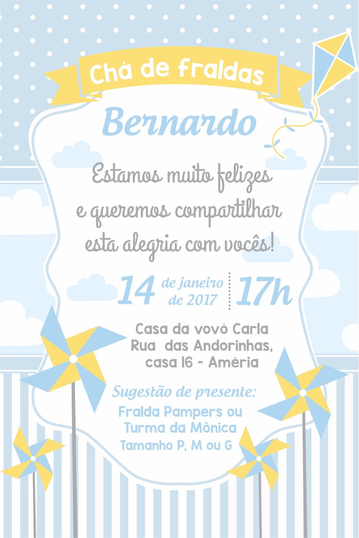Arte Convite Digital Cha De Bebe Catavendo No Elo7 Madi 85668b