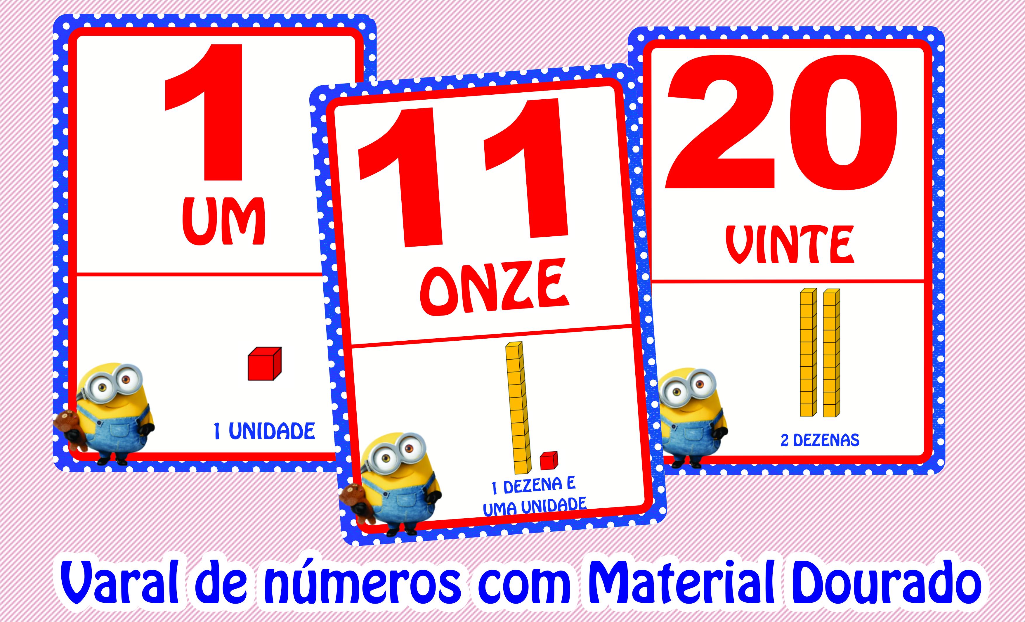 Varal Numerais 0 A 20 Centena E Milhar No Elo7 Emporio Escolar