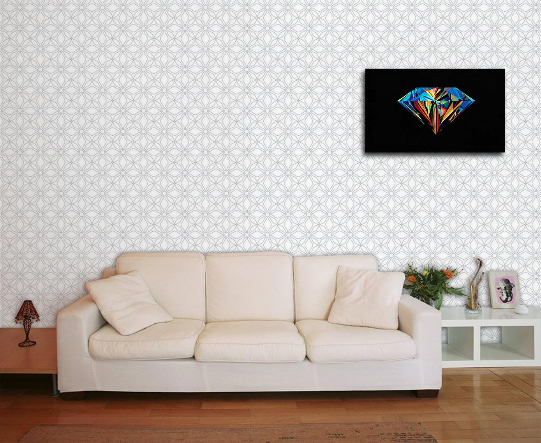 Papel De Parede Para Sala Abstrato No Elo7 Paredes Decoradas  -> Quadro De Parede Para Sala Abstrato