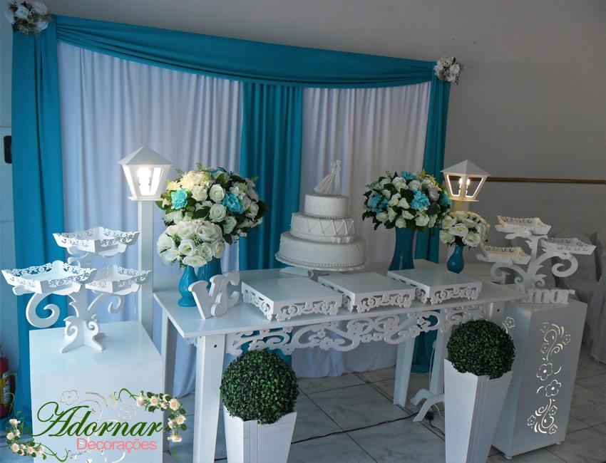 decoração de casamento Azul doces