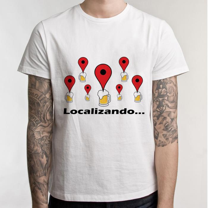 Camiseta Branca Carnaval Localizando... no Elo7  1a68549692a06