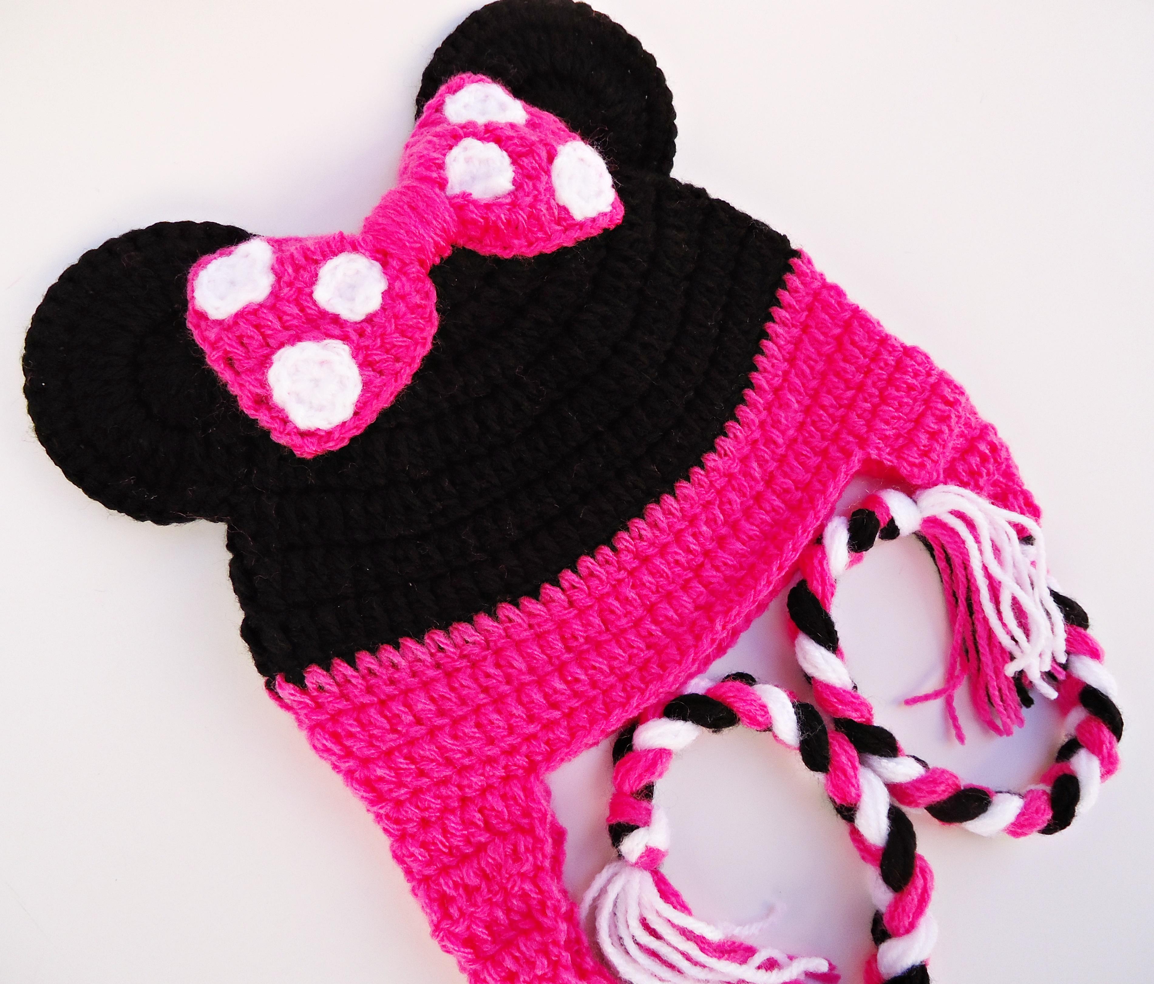 Touca de Croche Minnie  3193f696339