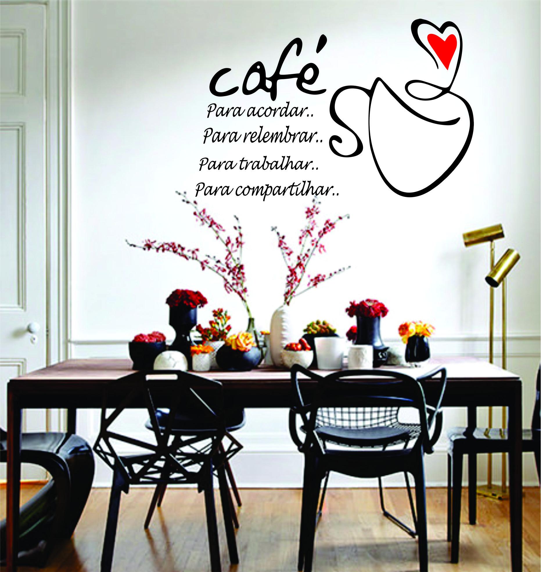 Sofá 3 Lugares Master Sofás Classic Em Velvet: Adesivo De Parede Frases Xícara De Café