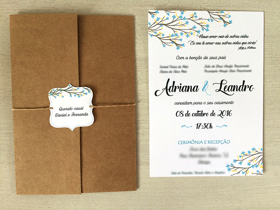 cef11386c Convite Adriana e Avacy | Elo7