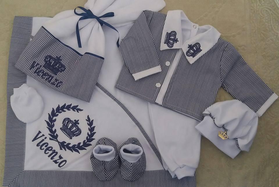 Roupa Saida Maternidade Menino Azul Marinho  c7d0122e826