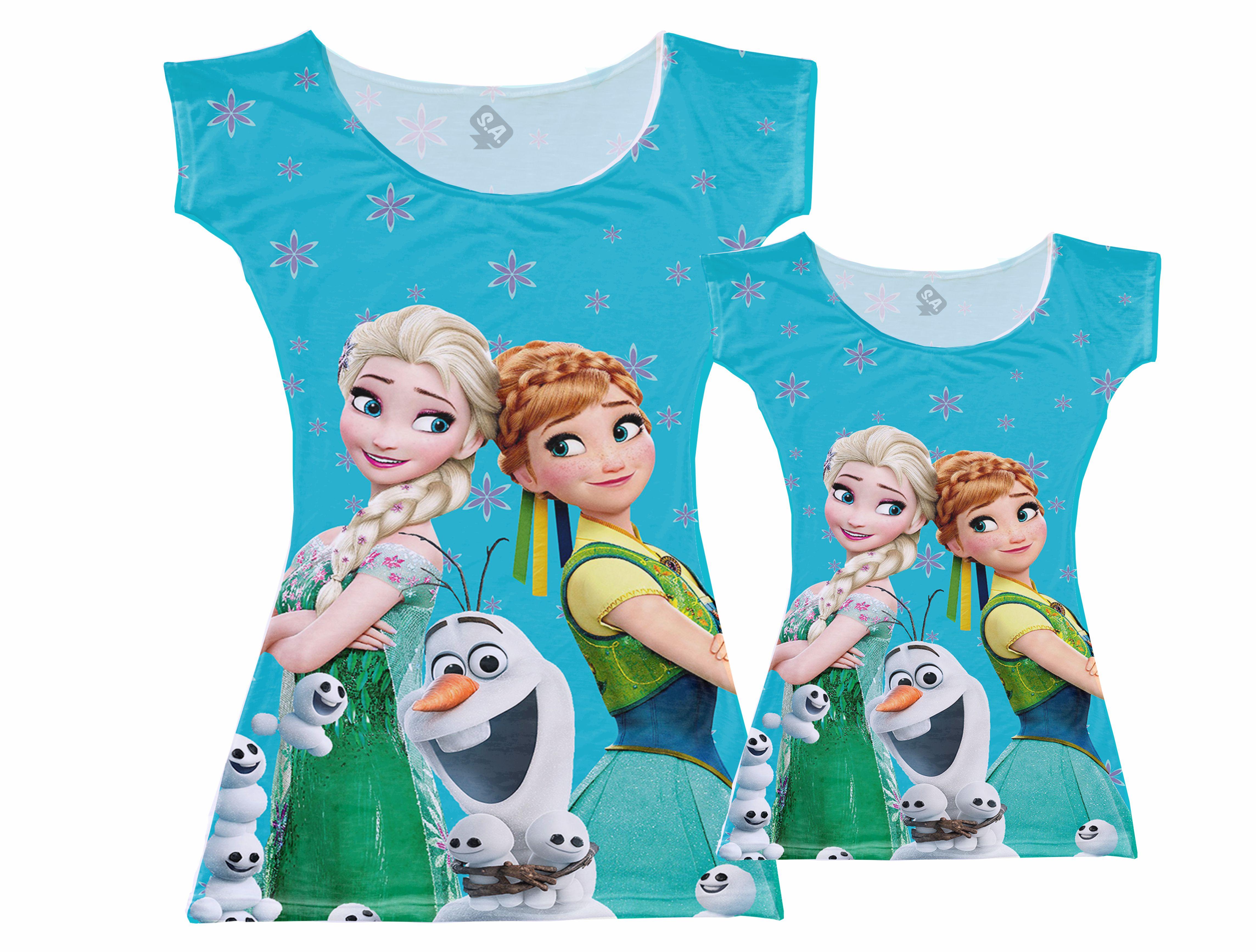 9f7a5498fda78f Vestidos Tal Mãe,Tal Filha Frozen