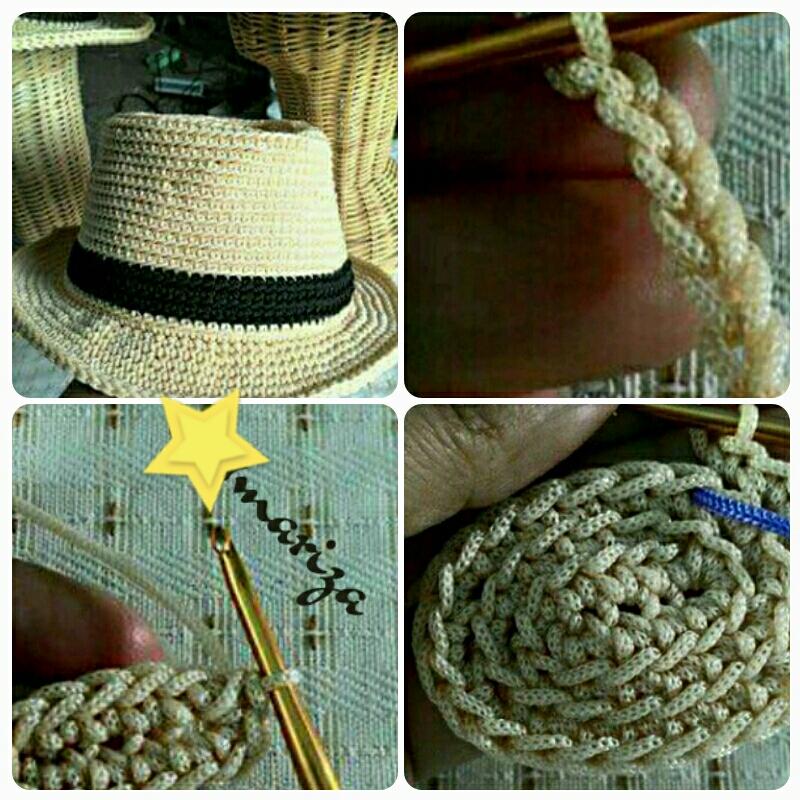 Chapéu Panamá Crochet no Elo7  c89bc066656