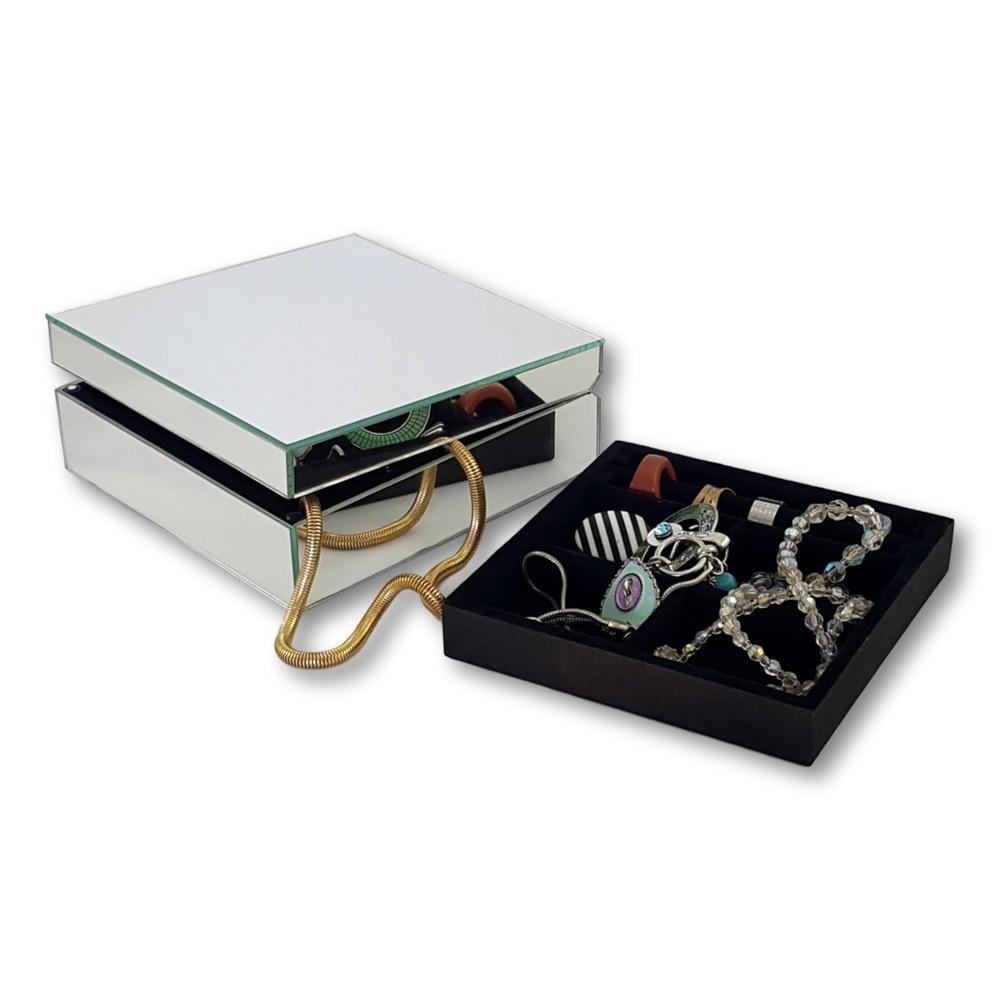 Aparador Zara Home ~ Porta joias espelhado caixa com espelho X ON DECOR Elo7