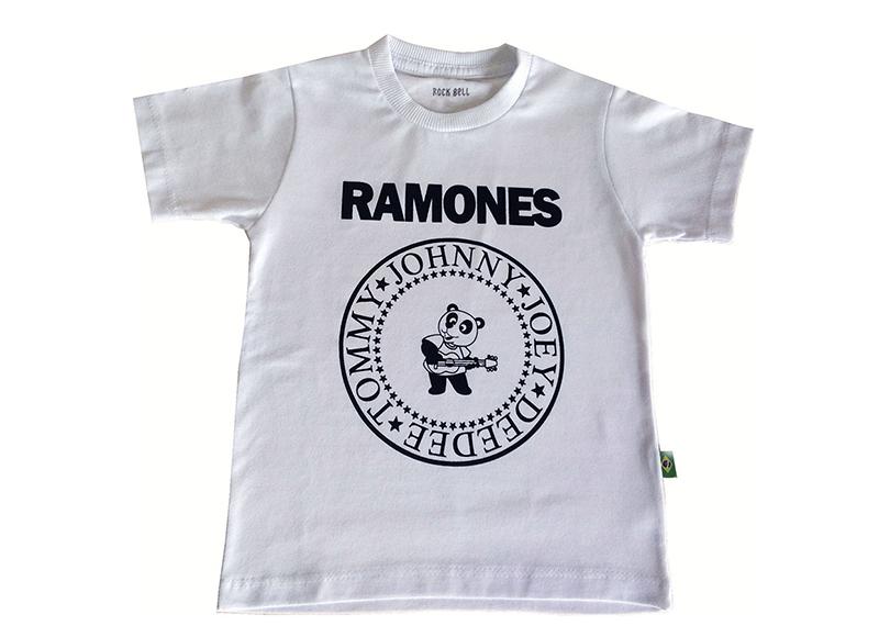6e39482ae0769 Camiseta Infantil Ramones - Branca no Elo7