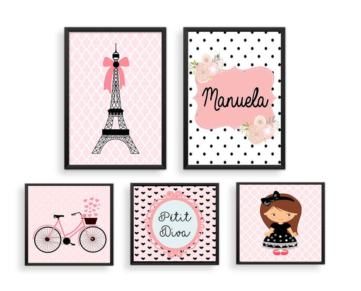 Fabuloso Decoração PERSONALIZADA PARIS - A4 no Elo7 | Pra Gente Pequena  TH51