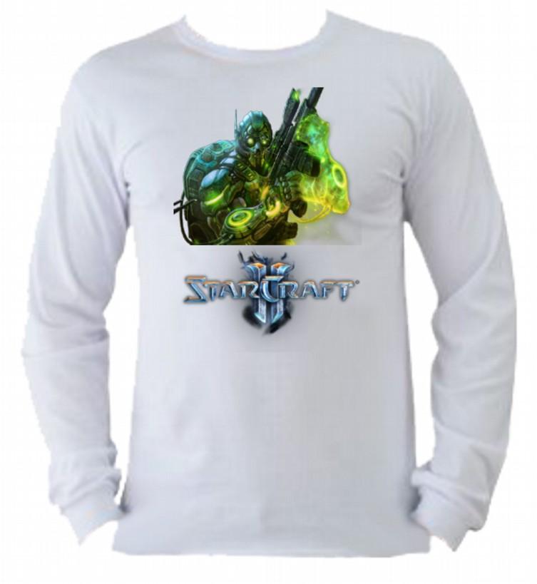 Camiseta Starcraft Manga Longa 2  02093d0910429