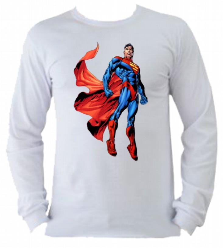 556f206715 Camiseta Superman Manga Longa 5