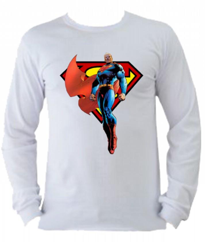 32cc9cf7b8 Camiseta Superman manga longa 5 no Elo7