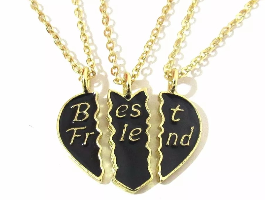 6a82cbcdd08 Colar Best Friends 3 Partes