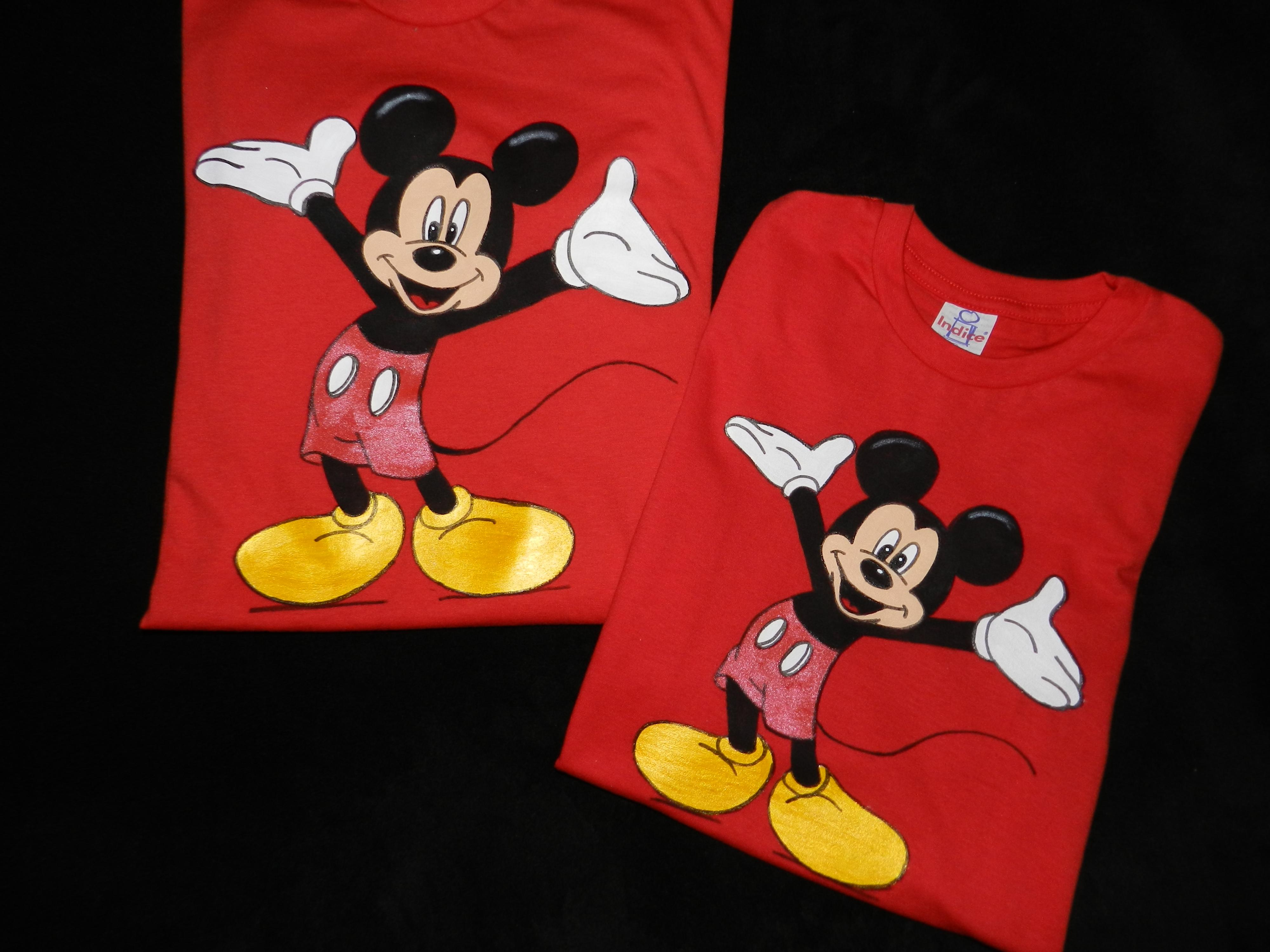 ed4a90c7bc02bc Kit Camiseta Festa Infantil Papai Mamae e Filho Mickey | Elo7