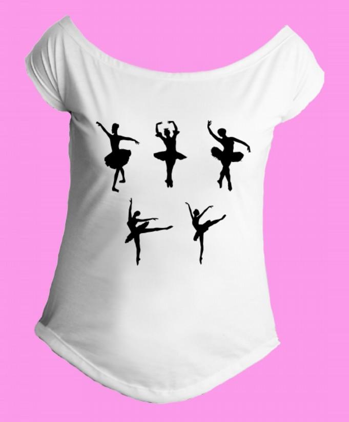 d54356316052e Camiseta Bale-Bailarina gola canoa 2 no Elo7