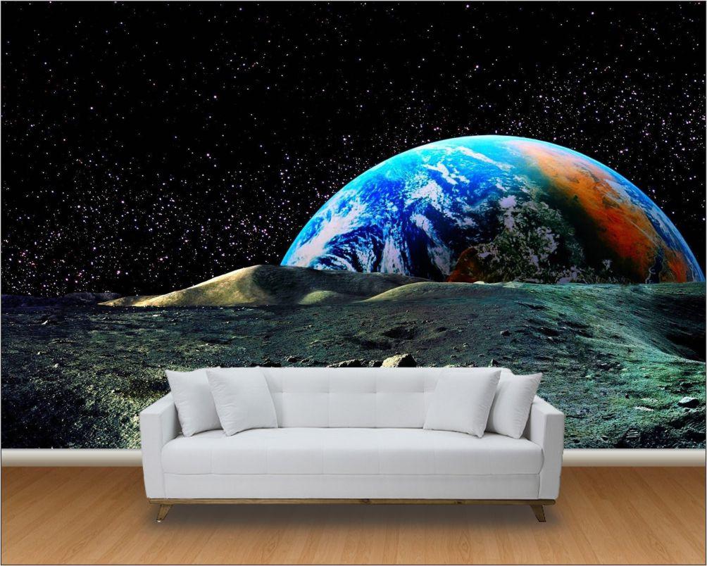 Papel De Parede 3D (Paisagens Planetas)