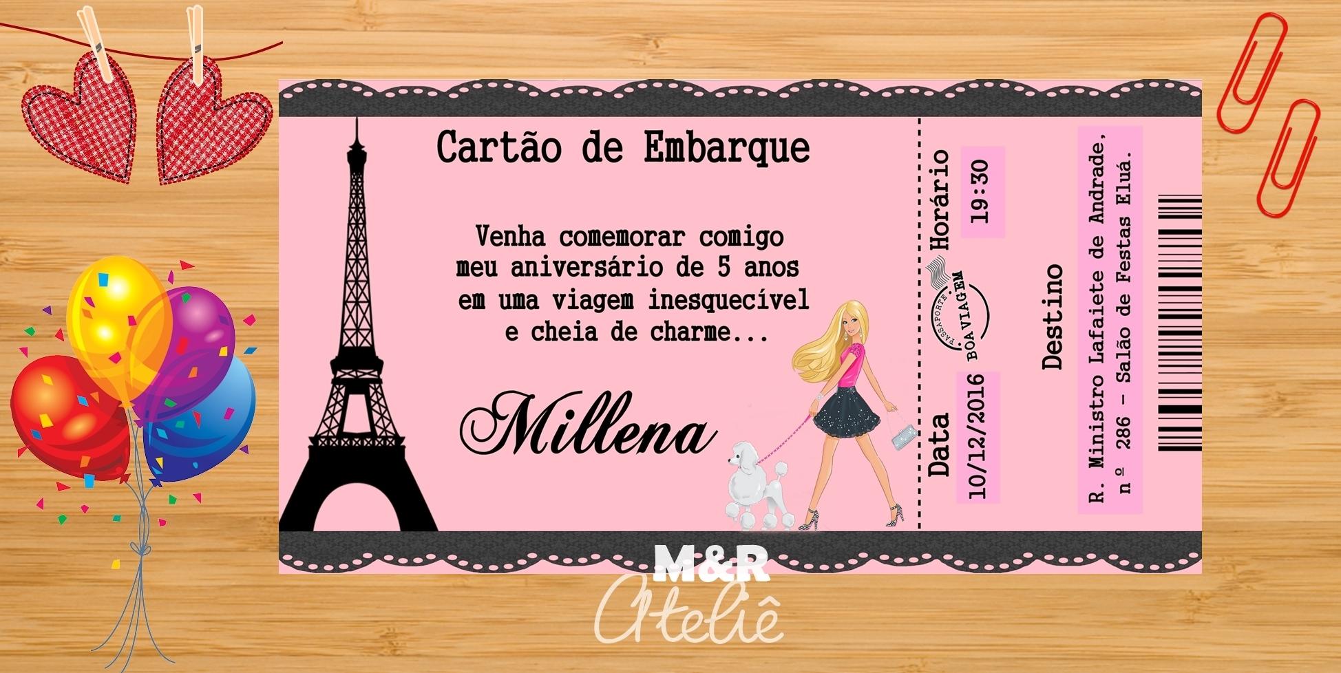 Convite Paris No Elo7 M R Atelie 878b6c